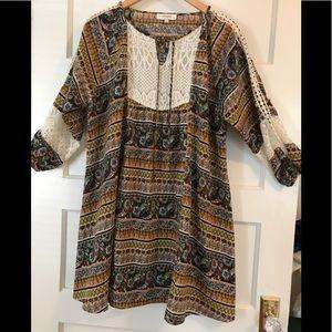 Boho Lace Babydoll Dress